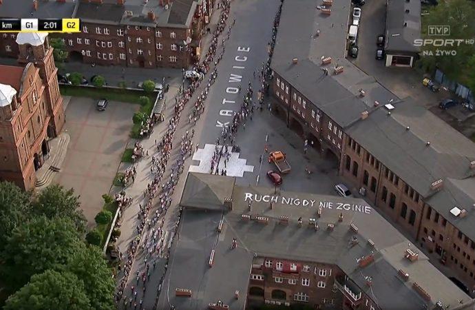 Tour de Pologne. Akcja kibiców Ruchu na Nikiszu