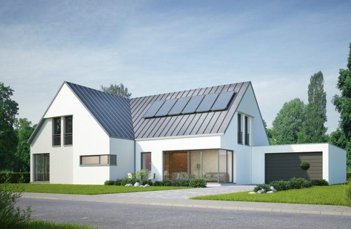 Na współczesnych fasadach dominuje powrót do natury. Nowoczesne elewacje w projektach domów