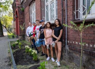 Młodzież z CUMY zamieniła pusty trawnik w ogródek pełen roślin