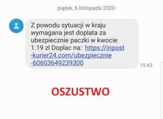SMS z informacją o dopłacie za dezynfekcję? Uwaga, to oszustwo