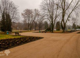 Nowa nawierzchnia na ścieżkach spacerowych wokół alei Różanej