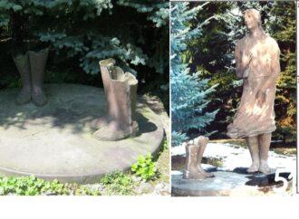 Renowacja parkowej rzeźby. Aby do niej doszło potrzeba starych zdjęć