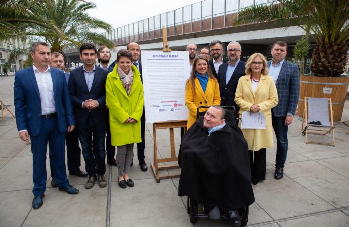 Przedstawiciele KO, RAŚ i ŚPR podpisali Deklarację Śląską
