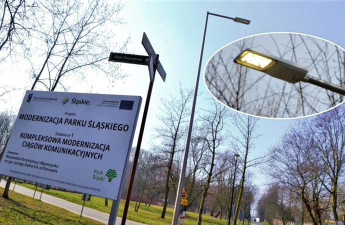 Nowe oświetlenie w Parku Śląskim