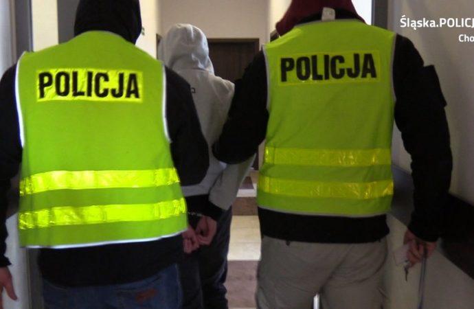 Kradzież i atak nożem na rynku w Chorzowie
