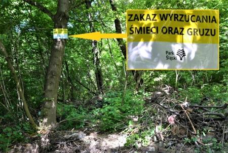 Park Śląski walczy z nielegalnymi wysypiskami