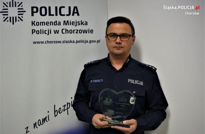 Chorzowski policjant ze społecznym wyróżnieniem