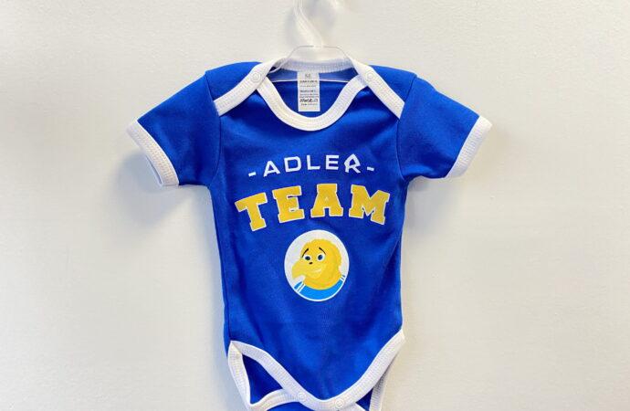 Niebieska paka dla niemowlaka