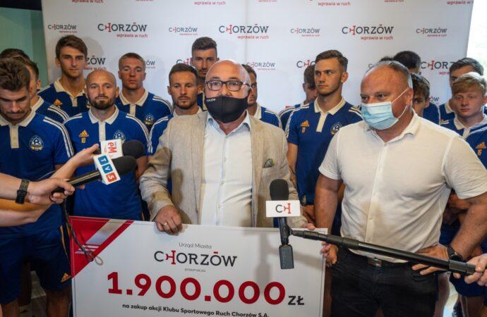 Prawie 2 miliony zł dla Ruchu Chorzów